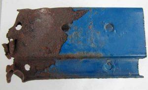 Fenomeno corrosivo su struttura di carpenteria verniciata